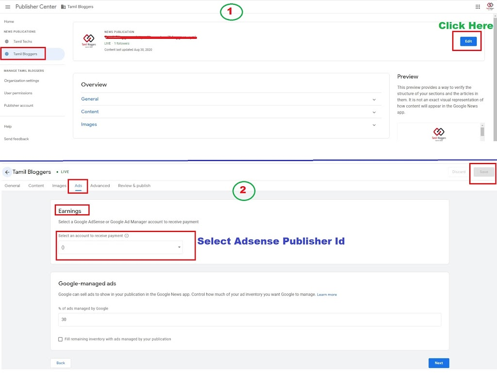 How To Apply Monetization For Blogger Google News Page In Tamil